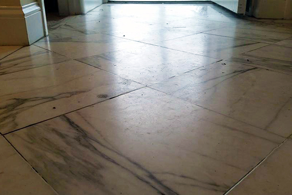 Dirty, Dull Marble Floor