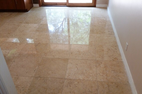 Limestone Floor Beautifully Refinished