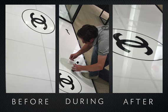 Chanel Store Marble Floor Refinished